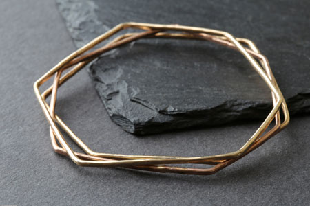 Hex Bangle from Alexis Russell