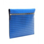 Perforated-Large-Zip-leather-clutch
