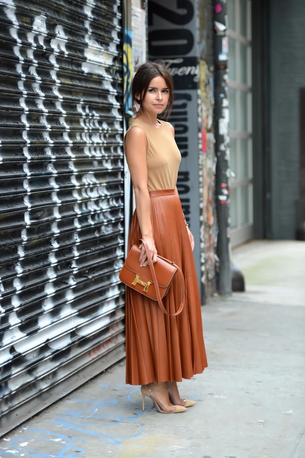 miroslava duma lather skirt