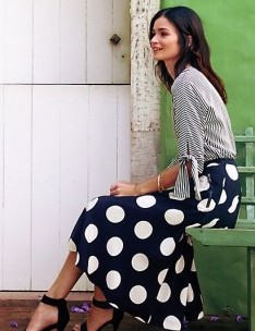 Deco Dot Midi Skirt