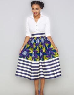 Esi Millie Striped Skirt