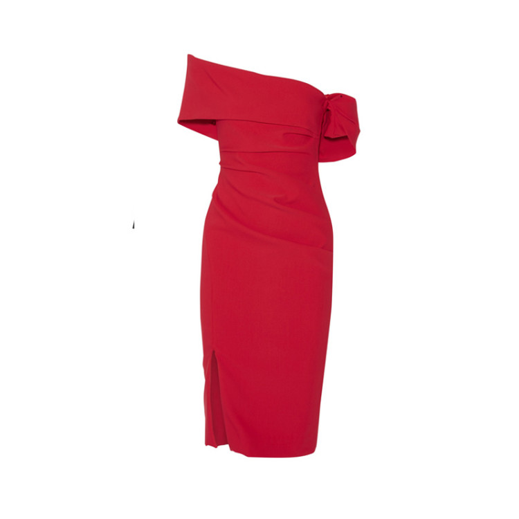 Haney-ruched-red-dress